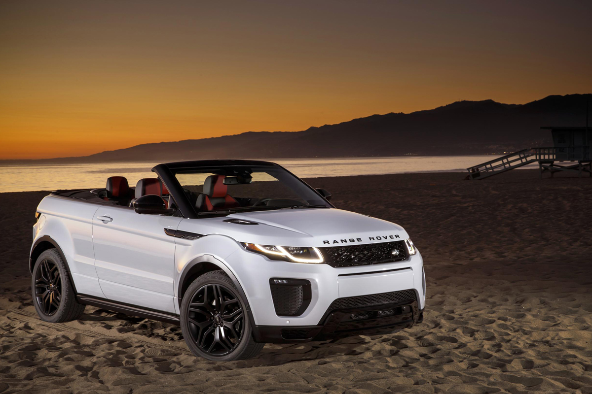 the range rover evoque convertible a roof free suv. Black Bedroom Furniture Sets. Home Design Ideas